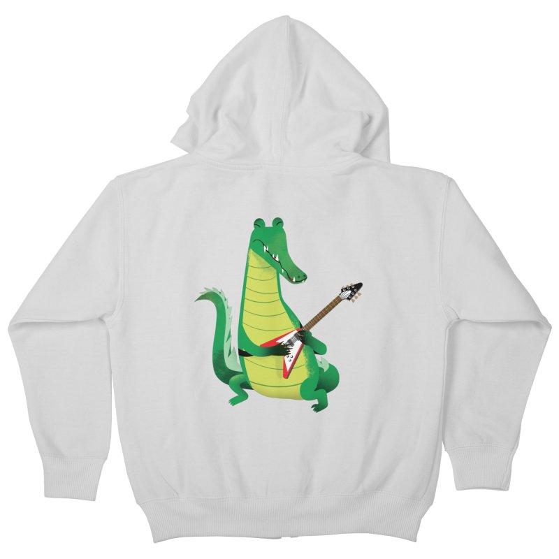 Crocodile Rock Kids Zip-Up Hoody by drawgood's Shop