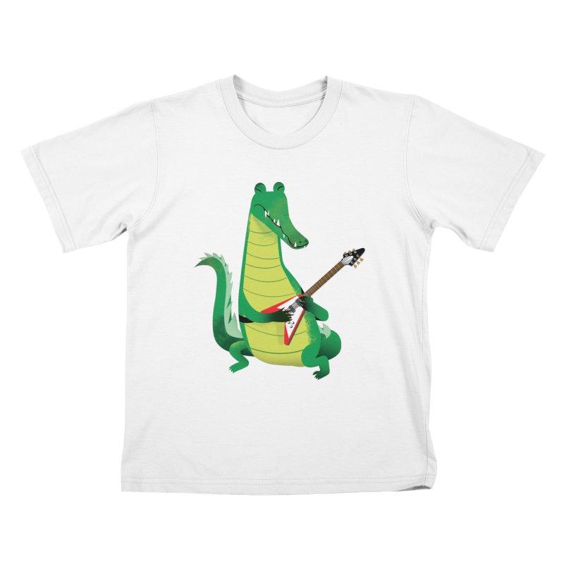 Crocodile Rock Kids T-Shirt by drawgood's Shop