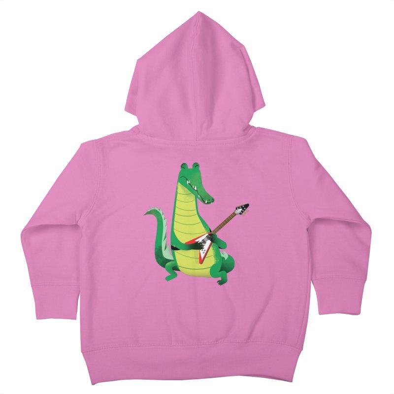 Crocodile Rock Kids Toddler Zip-Up Hoody by drawgood's Shop