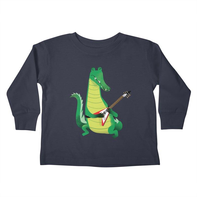 Crocodile Rock Kids Toddler Longsleeve T-Shirt by drawgood's Shop