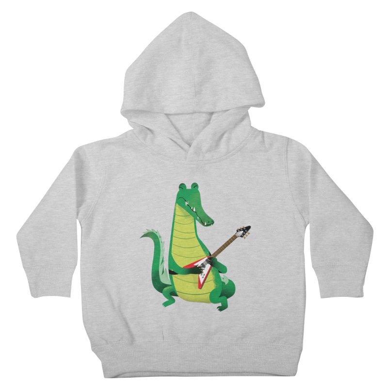 Crocodile Rock Kids Toddler Pullover Hoody by drawgood's Shop