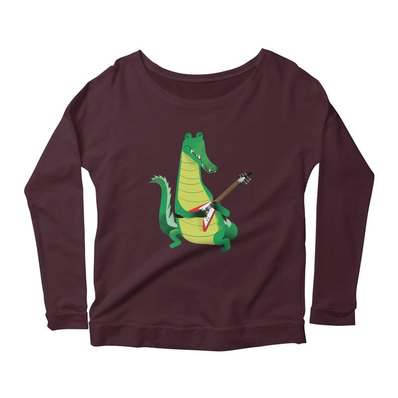 Crocodile Rock Women's Longsleeve Scoopneck  by drawgood's Shop