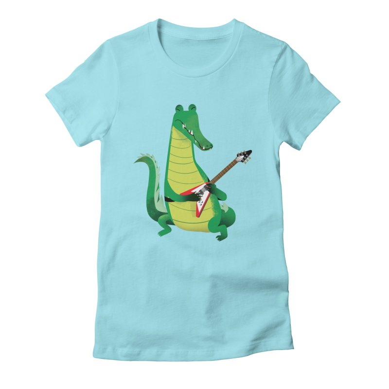 Crocodile Rock Women's Fitted T-Shirt by drawgood's Shop