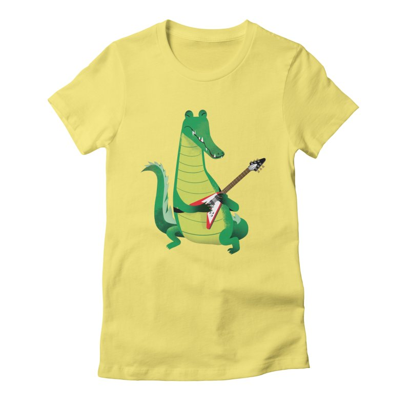 Crocodile Rock Women's Fitted T-Shirt by drawgood's Shop