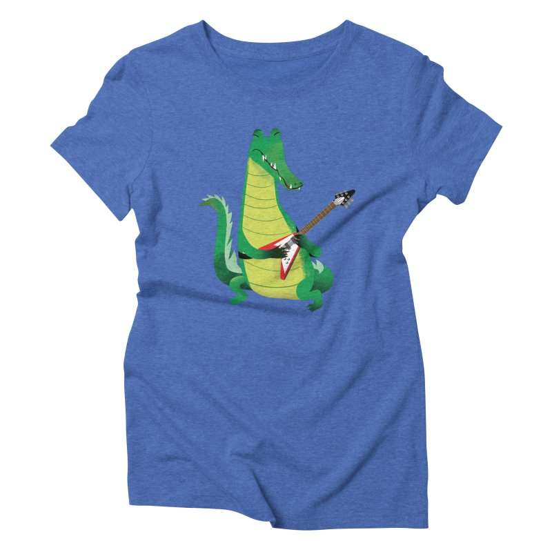 Crocodile Rock Women's Triblend T-shirt by drawgood's Shop