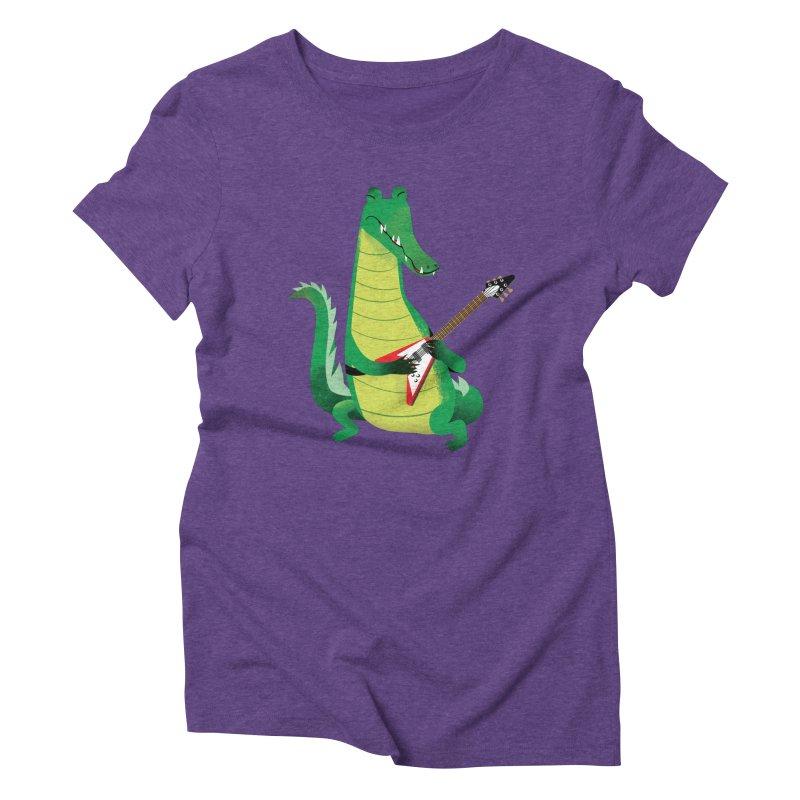 Crocodile Rock Women's Triblend T-shirt by drawgood's Shop