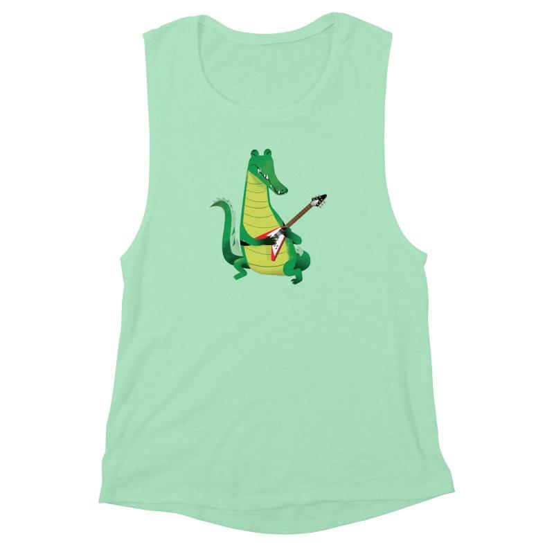 Crocodile Rock Women's Muscle Tank by drawgood's Shop