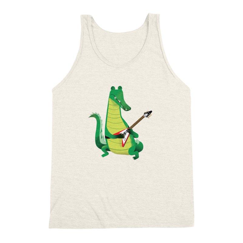 Crocodile Rock Men's Triblend Tank by drawgood's Shop
