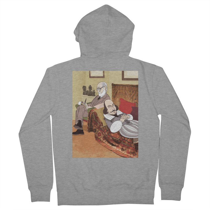 Freud Analysing Shakespeare Men's Zip-Up Hoody by drawgood's Shop