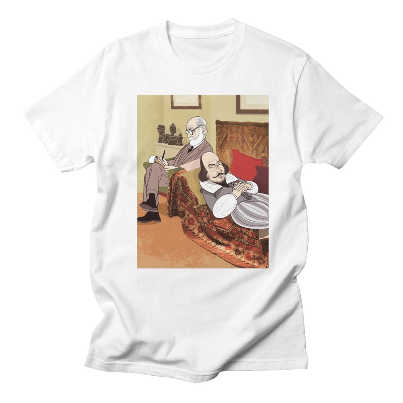 Freud Analysing Shakespeare Men's T-Shirt by Studio Drawgood