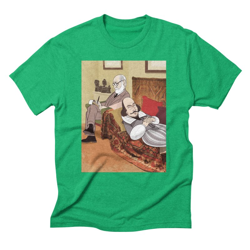 Freud Analysing Shakespeare Men's Triblend T-shirt by drawgood's Shop