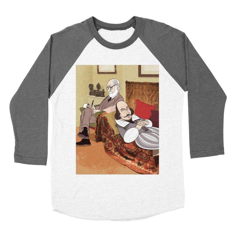 Freud Analysing Shakespeare Women's Baseball Triblend T-Shirt by Studio Drawgood
