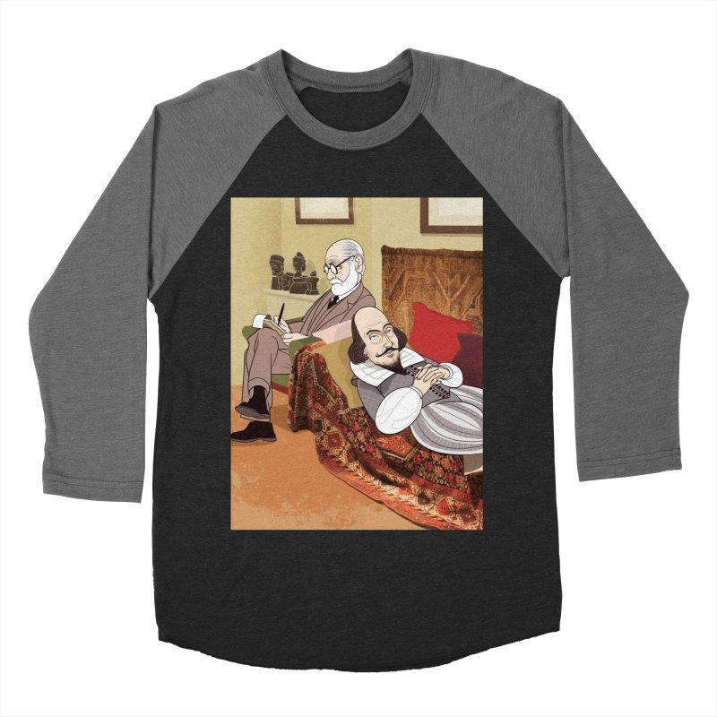 Freud Analysing Shakespeare Men's Baseball Triblend T-Shirt by drawgood's Shop