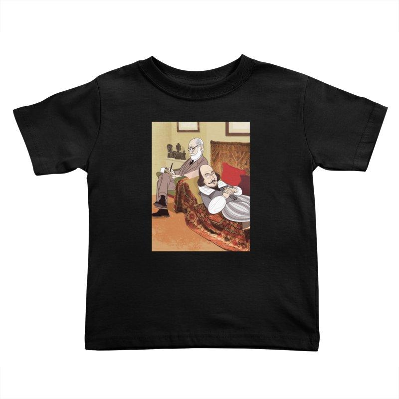 Freud Analysing Shakespeare Kids Toddler T-Shirt by drawgood's Shop
