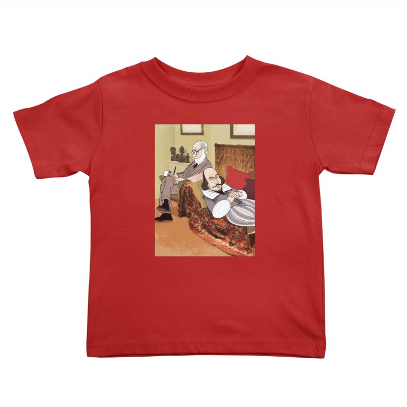 Freud Analysing Shakespeare Kids Toddler T-Shirt by drawgood's Shop