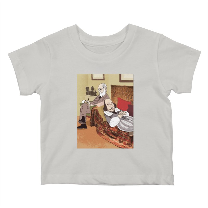 Freud Analysing Shakespeare Kids Baby T-Shirt by drawgood's Shop