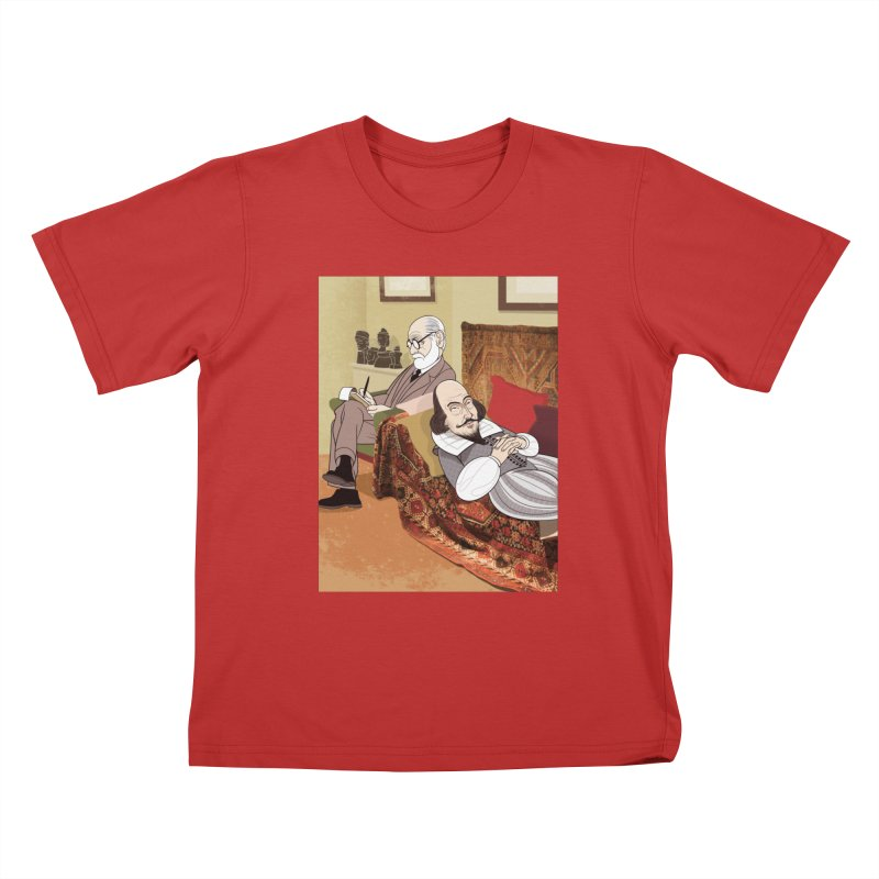 Freud Analysing Shakespeare Kids T-Shirt by drawgood's Shop