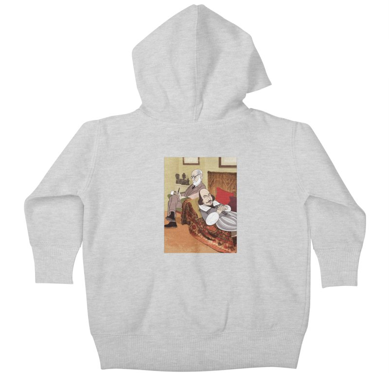 Freud Analysing Shakespeare Kids Baby Zip-Up Hoody by drawgood's Shop