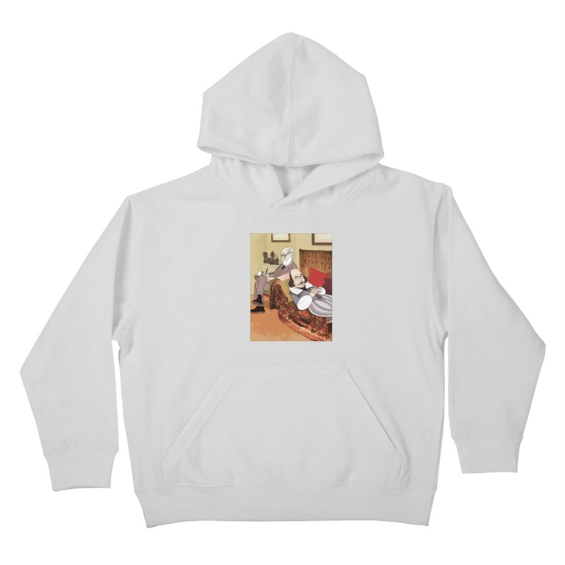 Freud Analysing Shakespeare Kids Pullover Hoody by drawgood's Shop