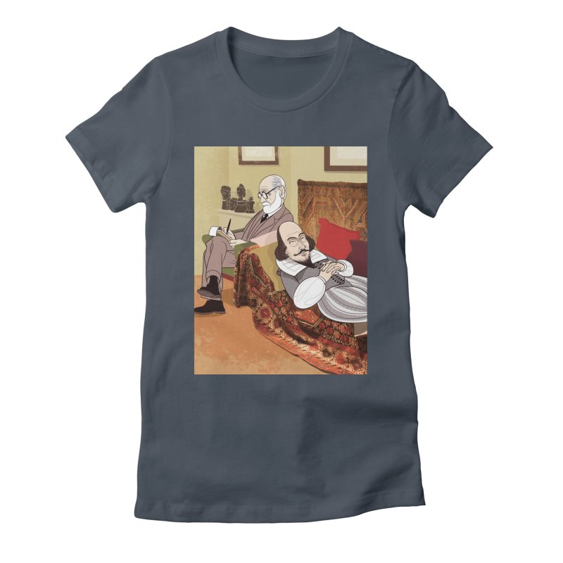 Freud Analysing Shakespeare Women's Fitted T-Shirt by Studio Drawgood