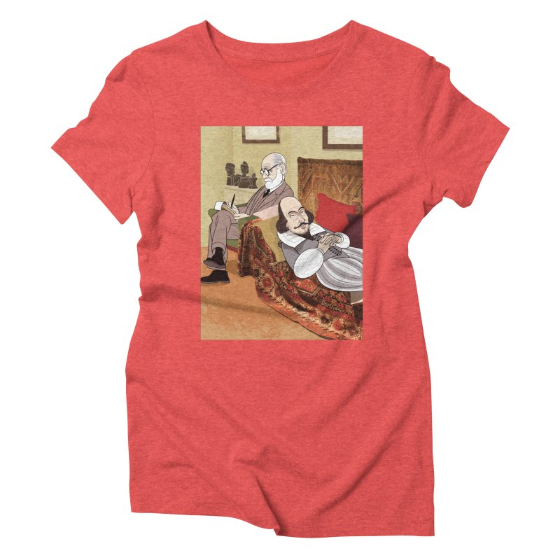 Freud Analysing Shakespeare Women's Triblend T-Shirt by drawgood's Shop