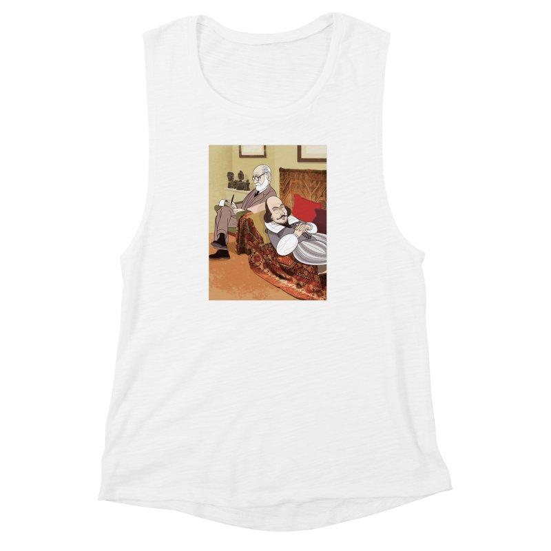 Freud Analysing Shakespeare Women's Muscle Tank by drawgood's Shop