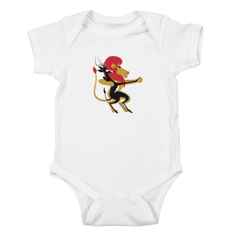 An Unlikely Alliance Kids Baby Bodysuit by Studio Drawgood