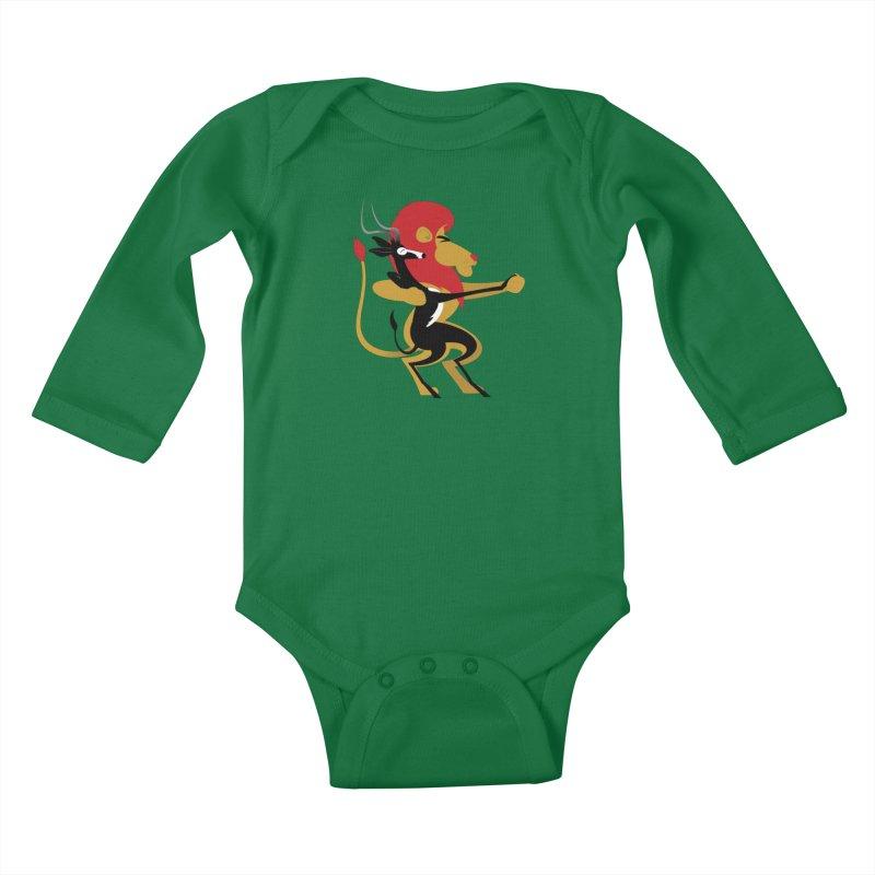 An Unlikely Alliance Kids Baby Longsleeve Bodysuit by drawgood's Shop