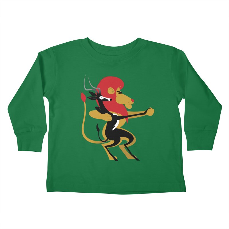 An Unlikely Alliance Kids Toddler Longsleeve T-Shirt by Studio Drawgood