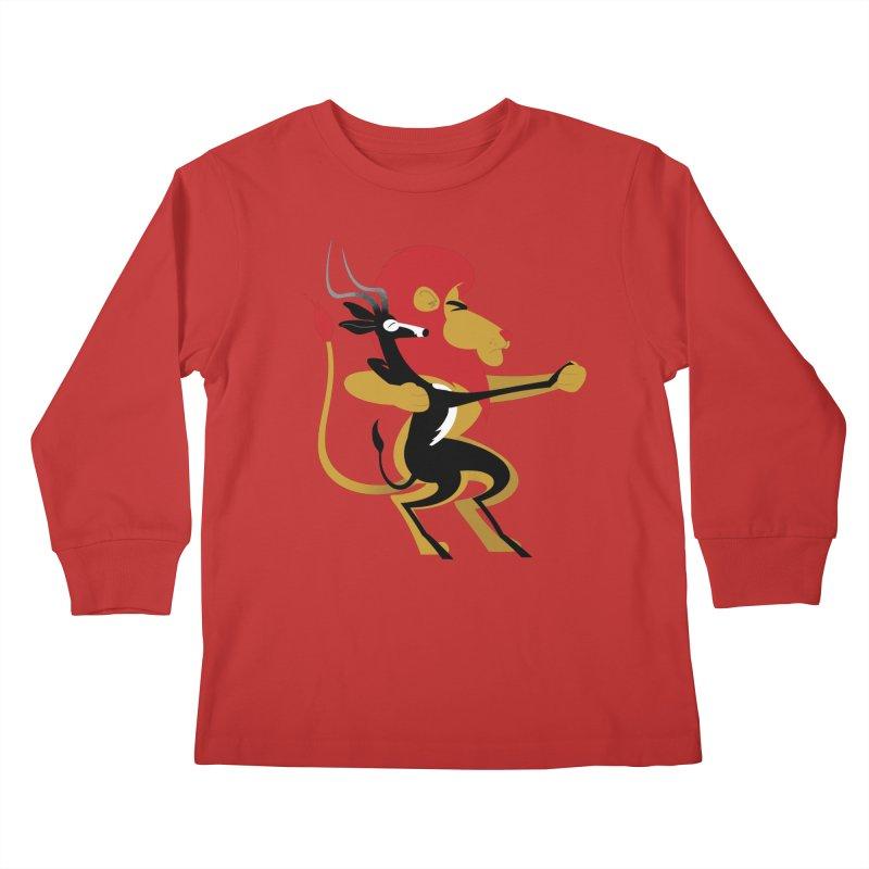 An Unlikely Alliance Kids Longsleeve T-Shirt by Studio Drawgood