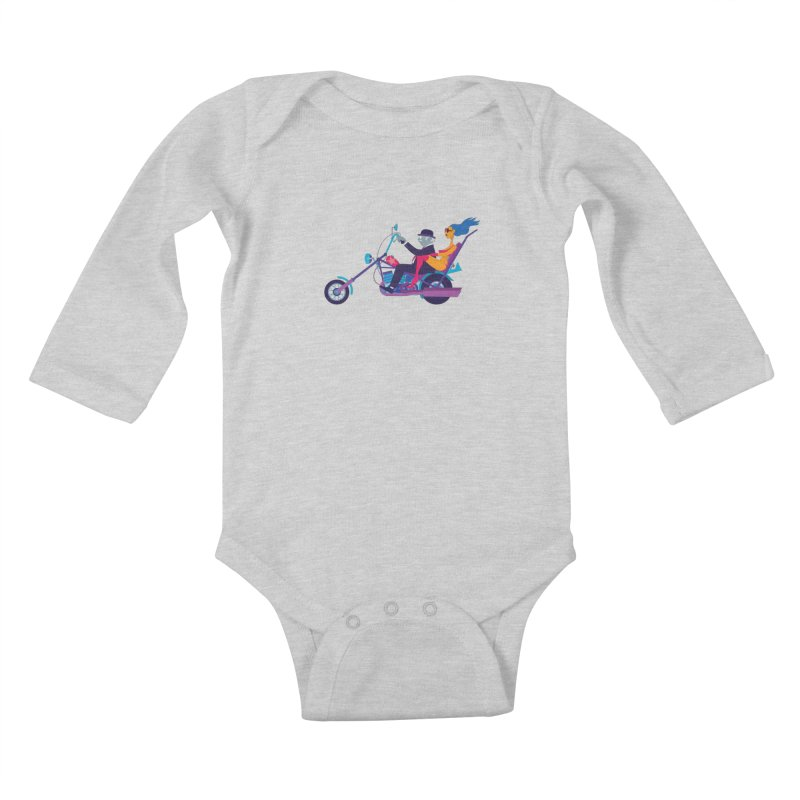 Mid-Life Crisis No.1 Kids Baby Longsleeve Bodysuit by drawgood's Shop