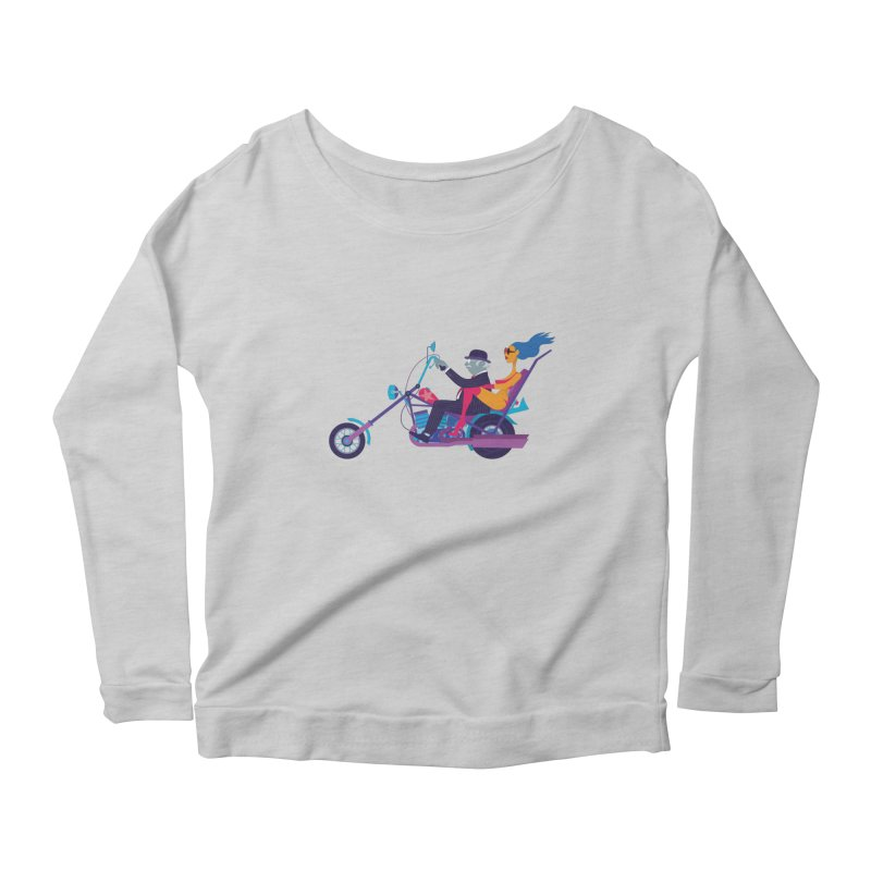 Mid-Life Crisis No.1 Women's Longsleeve Scoopneck  by Studio Drawgood