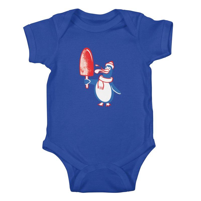 Popsicle Penguin Kids Baby Bodysuit by Studio Drawgood