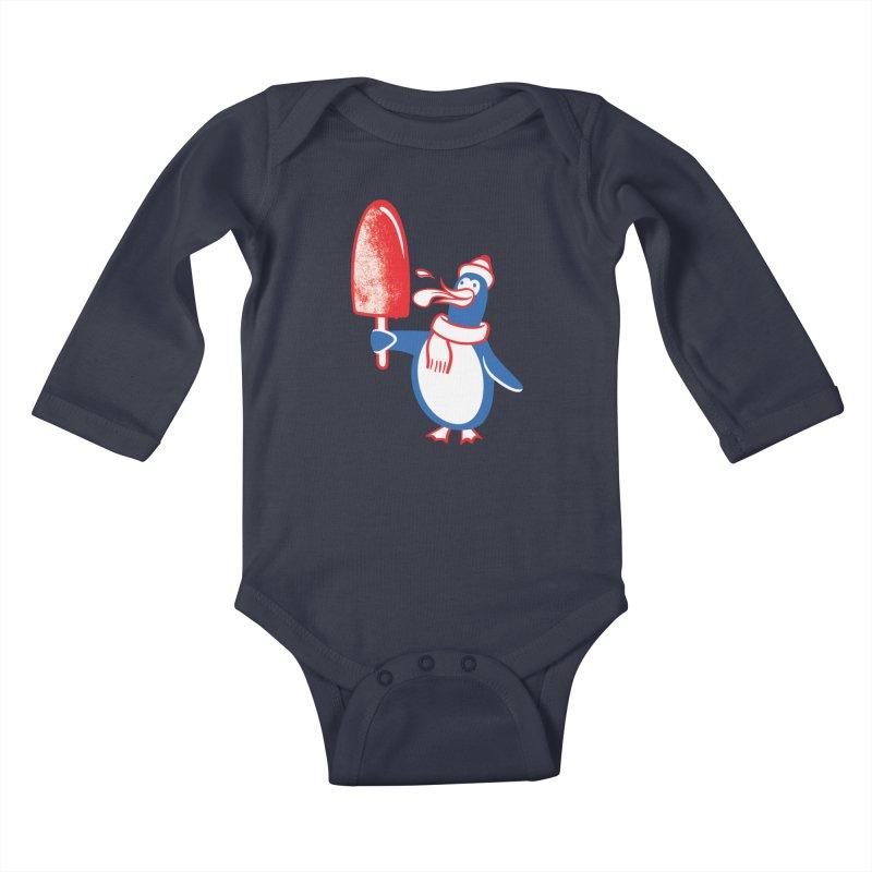 Popsicle Penguin Kids Baby Longsleeve Bodysuit by drawgood's Shop