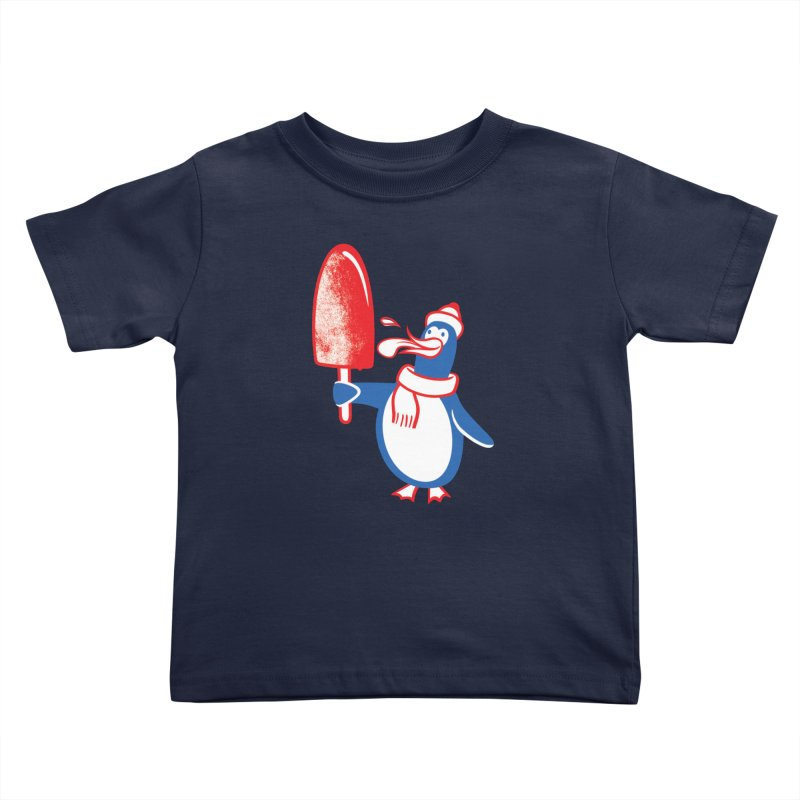 Popsicle Penguin Kids Toddler T-Shirt by drawgood's Shop