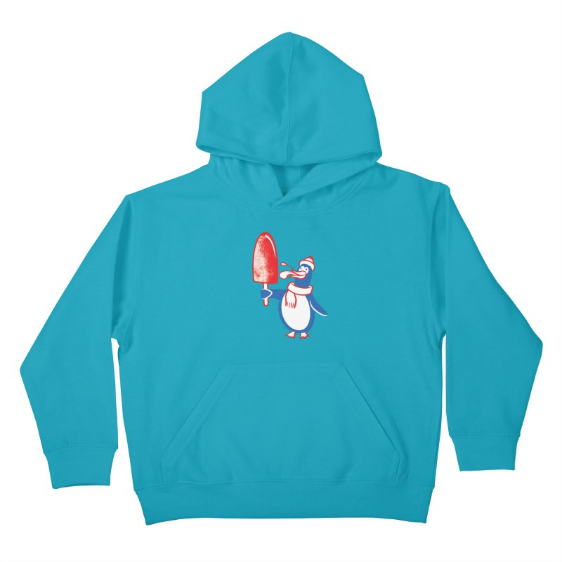Popsicle Penguin Kids Pullover Hoody by drawgood's Shop