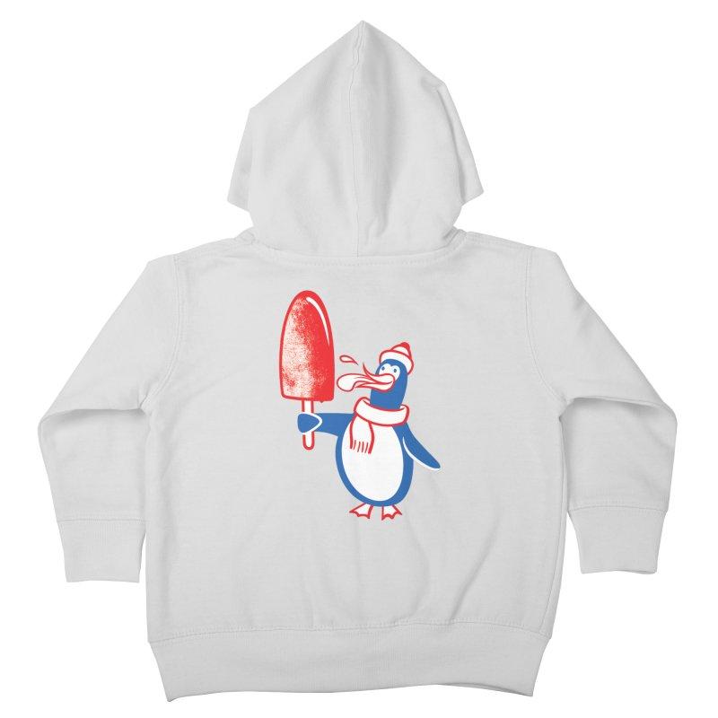 Popsicle Penguin Kids Toddler Zip-Up Hoody by drawgood's Shop