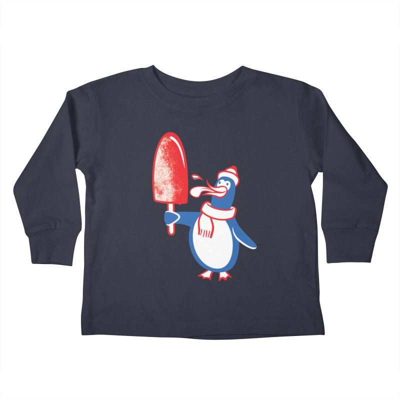 Popsicle Penguin Kids Toddler Longsleeve T-Shirt by drawgood's Shop