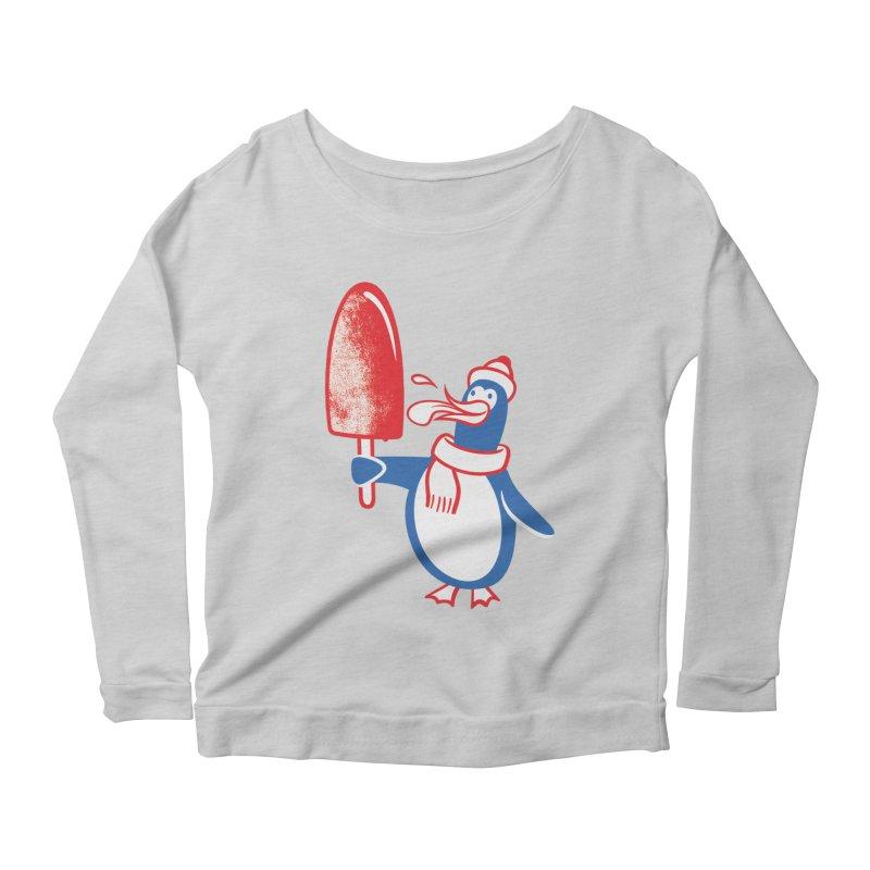Popsicle Penguin Women's Longsleeve Scoopneck  by drawgood's Shop