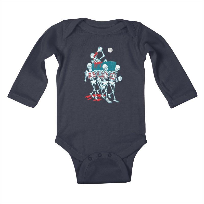 Funeral Of The Already Dead Kids Baby Longsleeve Bodysuit by drawgood's Shop