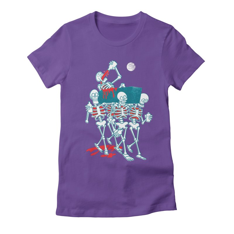 Funeral Of The Already Dead Women's Fitted T-Shirt by drawgood's Shop