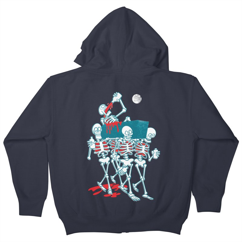 Funeral Of The Already Dead Kids Zip-Up Hoody by drawgood's Shop