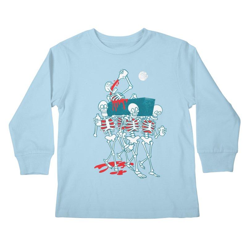 Funeral Of The Already Dead Kids Longsleeve T-Shirt by drawgood's Shop
