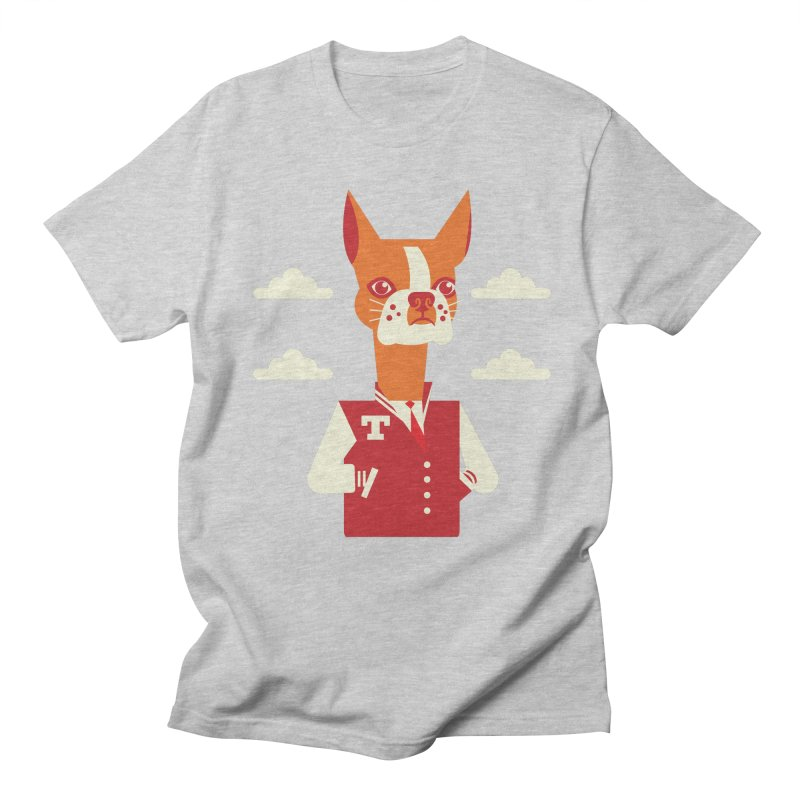 Boston Bull Terrier Men's T-Shirt by drawgood's Shop