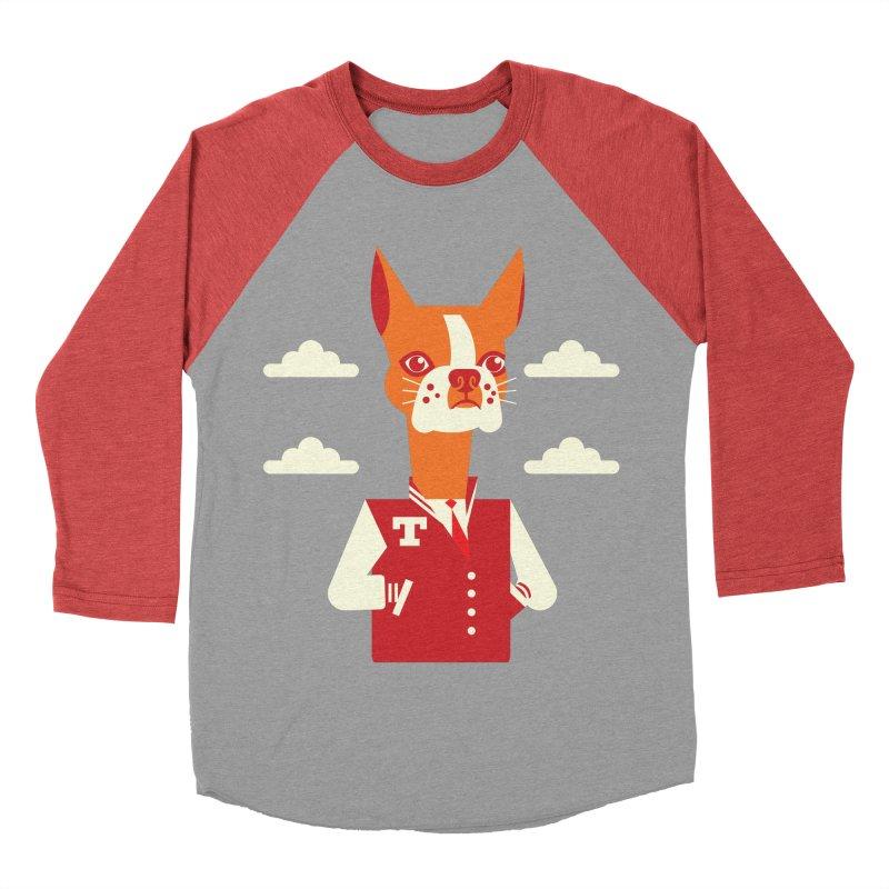 Boston Bull Terrier Men's Baseball Triblend T-Shirt by Studio Drawgood