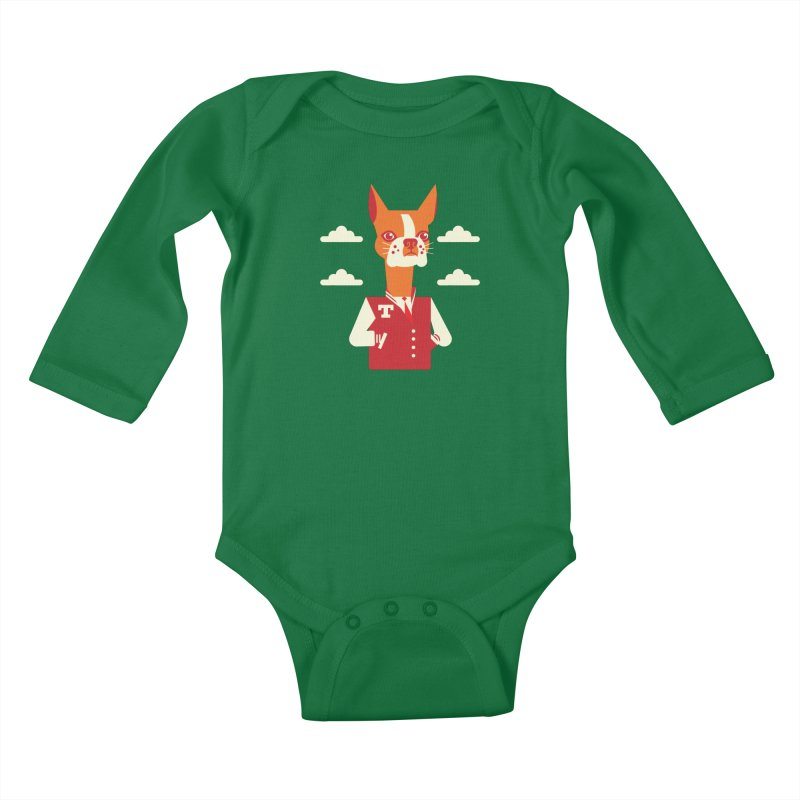 Boston Bull Terrier Kids Baby Longsleeve Bodysuit by drawgood's Shop