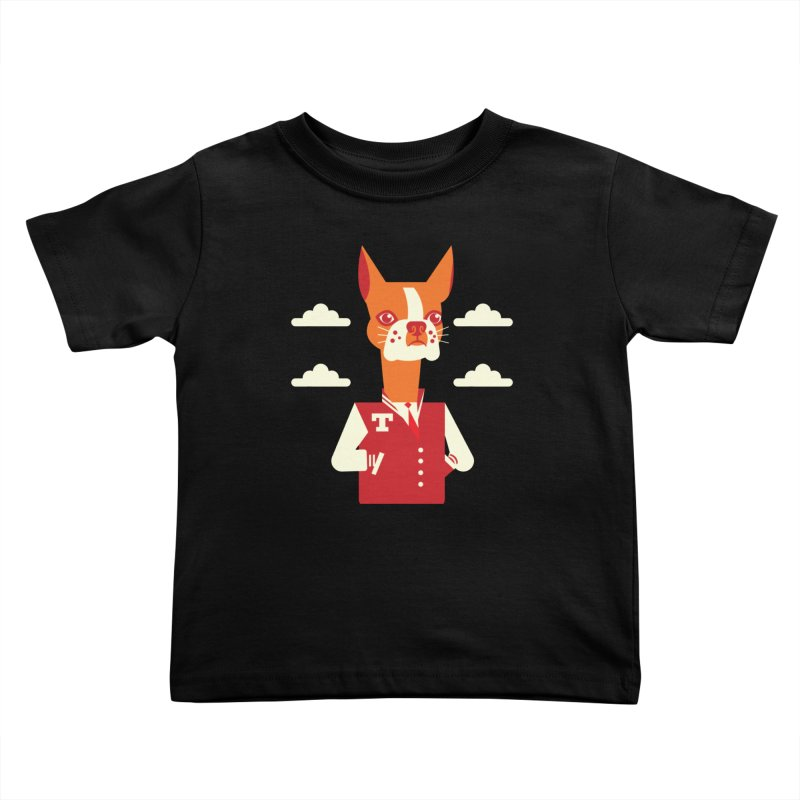 Boston Bull Terrier Kids Toddler T-Shirt by Studio Drawgood