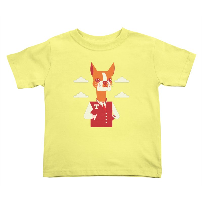 Boston Bull Terrier Kids Toddler T-Shirt by drawgood's Shop
