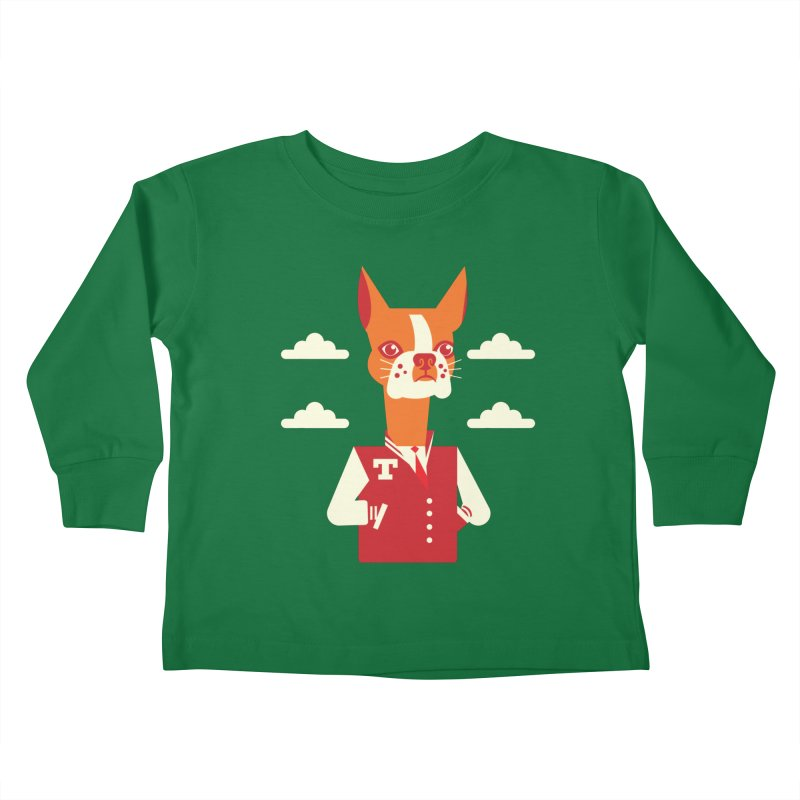 Boston Bull Terrier Kids Toddler Longsleeve T-Shirt by Studio Drawgood
