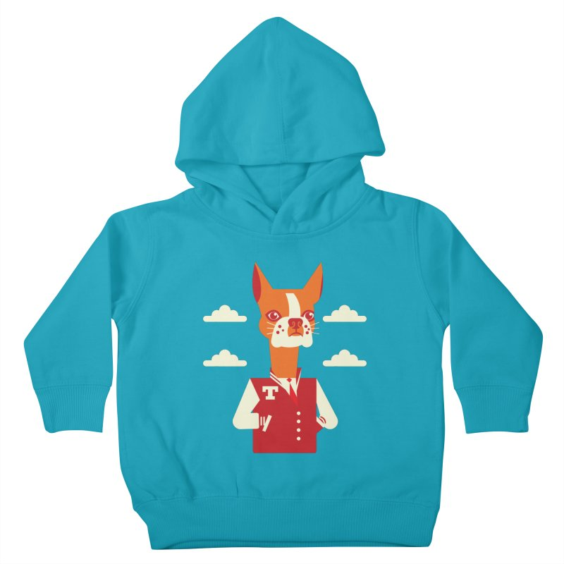 Boston Bull Terrier Kids Toddler Pullover Hoody by Studio Drawgood
